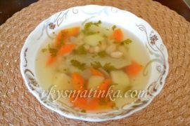 Суп с фасолью и индейкой в мультиварке
