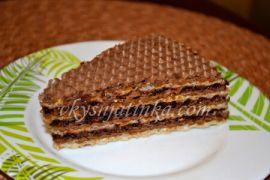 Торт из вафельных коржей с вареньем - фото