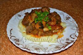Жареная индейка на сковороде - фото