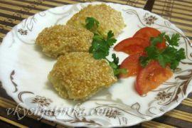 Жареная рыба с сыром