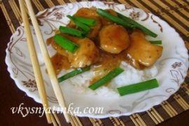 Куриное филе в соевом соусе жареное на сковороде