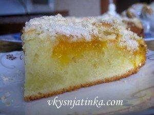 Абрикосовый пирог с миндалем - фото
