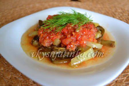 Баклажаны в томатном соусе - фото