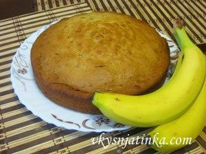 Простой банановый кекс в духовке - фото