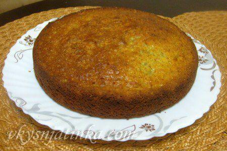 Банановый пирог в духовке - фото