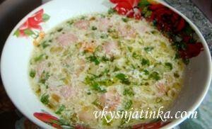 Белый суп - фото