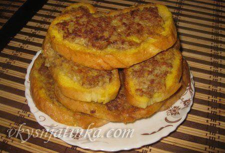 Бутерброды с фаршем - фото