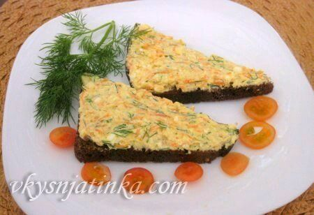Бутерброды с творогом - фото