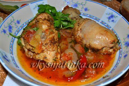 Классический чахохбили из курицы по-грузински - фото