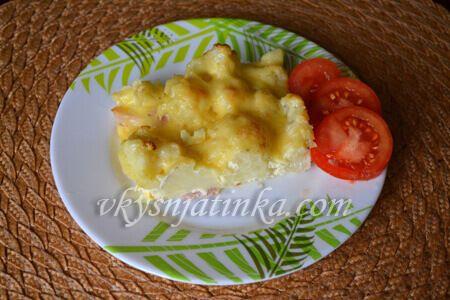 Цветная капуста с сыром в духовке - фото