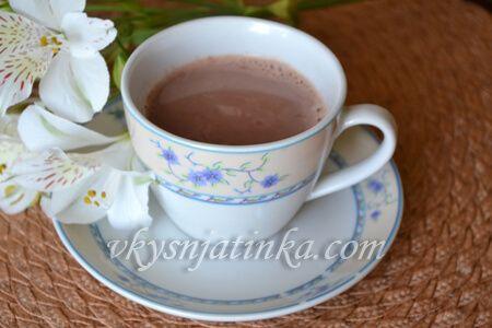 Домашнее какао на молоке - фото