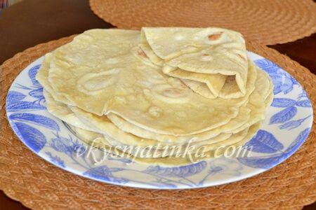 Домашний армянский лаваш на сковороде - фото