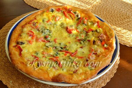 Домашняя пицца-чили - фото
