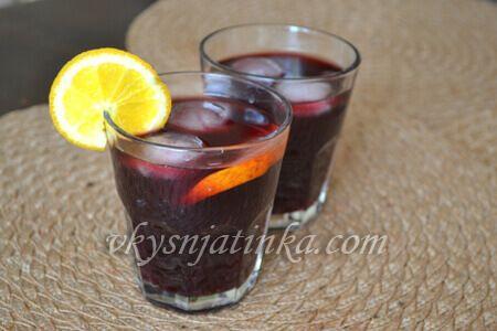 Домашняя сангрия из красного вина - фото