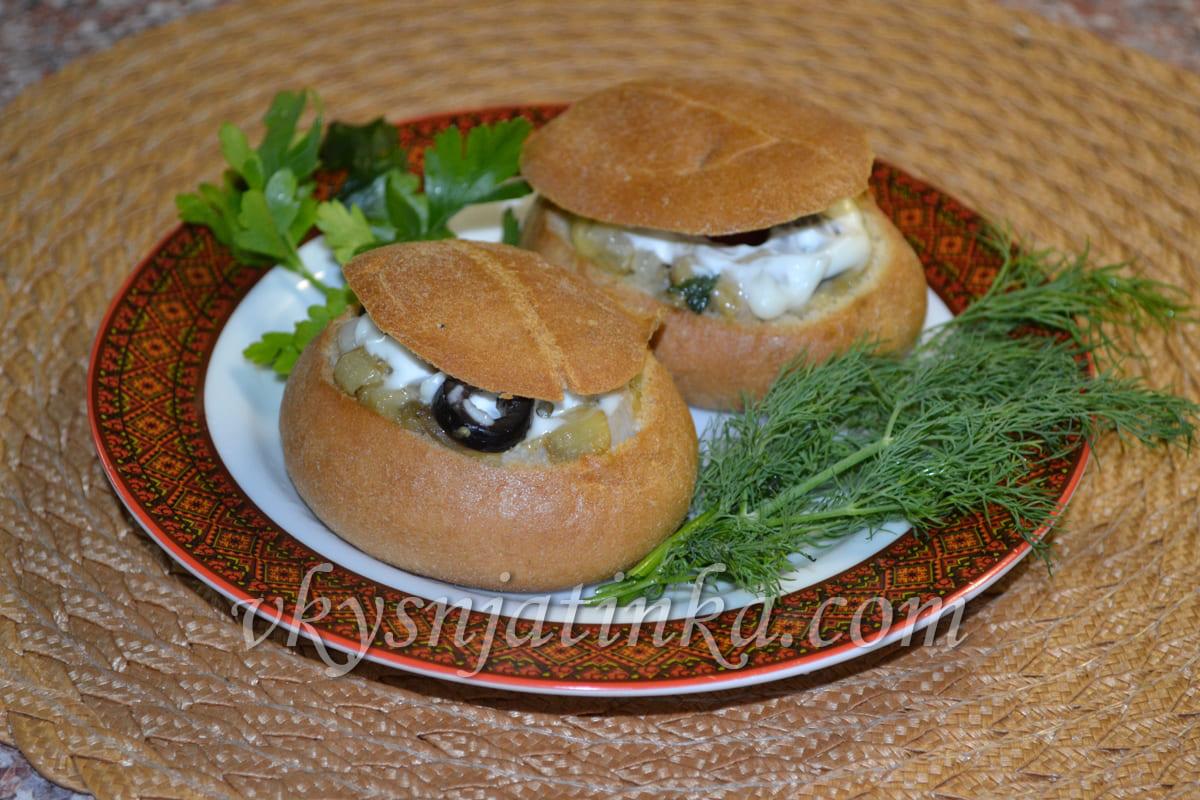Фаршированные булочки в духовке - фото