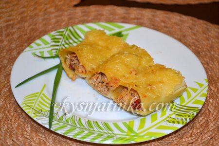 Фаршированные макароны в духовке - фото