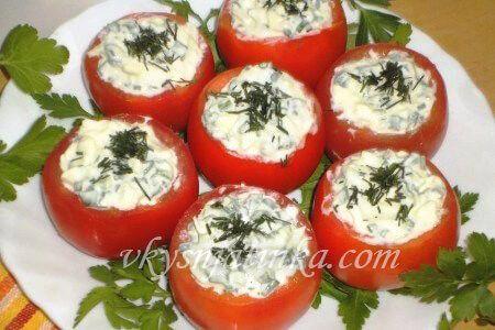 Фаршированные помидоры на закуску - фото