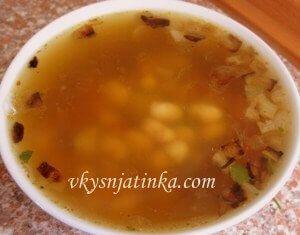 Фасолевый суп со свининой - фото