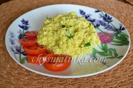 Яичница с кабачками - фото