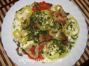 Яичница с помидорами - фото