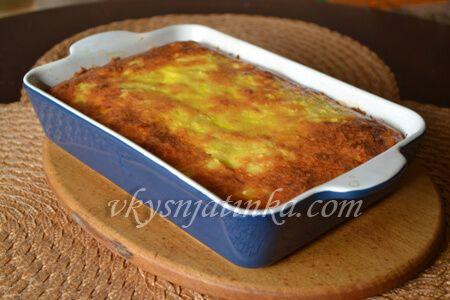 Картофельная запеканка с сосисками - фото