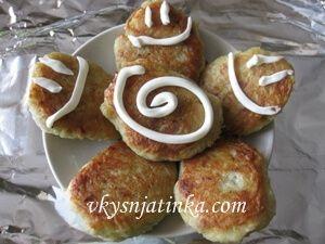 Картофельные драники с мясом - фото