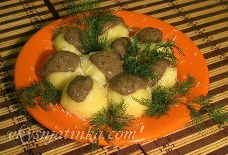 Картофельные клецки - фото