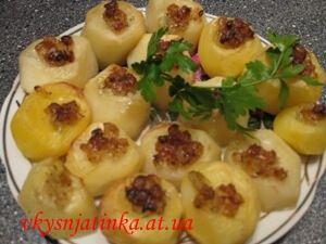 Картофельные лодочки - фото