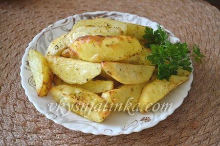 Картошка по-деревенски в аэрогриле - фото