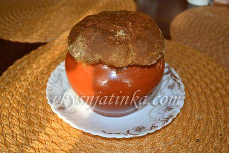 Картошка с мясом в духовке в горшочках - фото