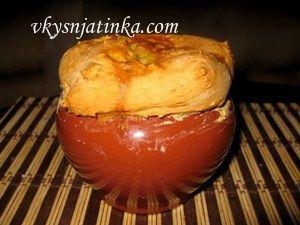 Картошка запеченная в горшочке - фото