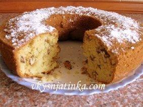 Кекс с орехами - фото