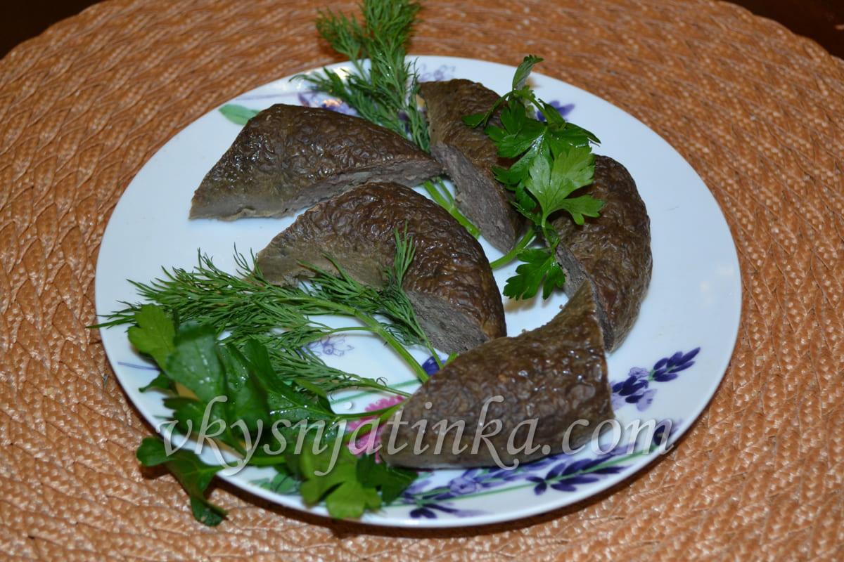 Колбаса из печени в домашних условиях - фото