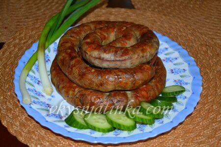 Колбаса из свинины в домашних условиях - фото