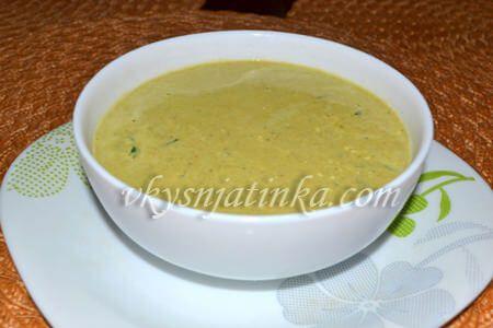 Крем-суп из шпината со сливками - фото