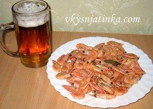 Креветки к пиву - фото