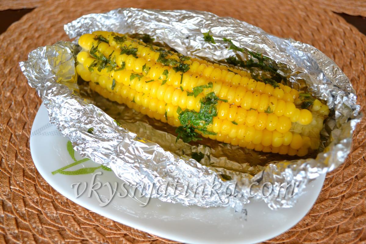 Кукуруза в фольге запеченная в духовке - фото
