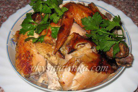 Курица с медом и горчицей в духовке - фото