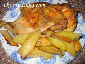 Курица в майонезе с картофелем в духовке - фото