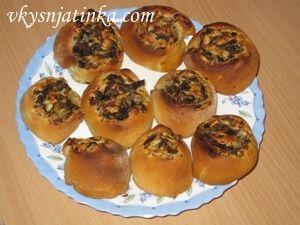 Ленивые пироги с грибами и рисом - фото