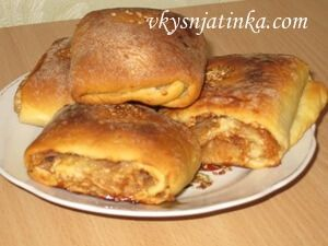 Ленивые пироги с яблоками и корицей - фото