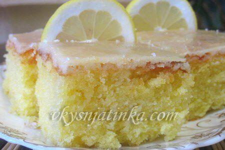 Лимонные пирожные - фото