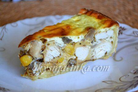 Лоранский пирог с курицей - фото