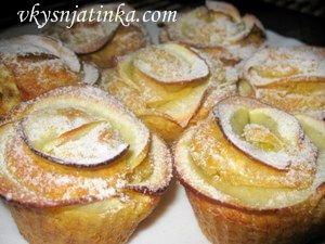 Маффины с яблоками - фото