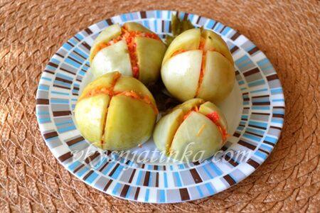 Маринованные зеленые помидоры на зиму - фото