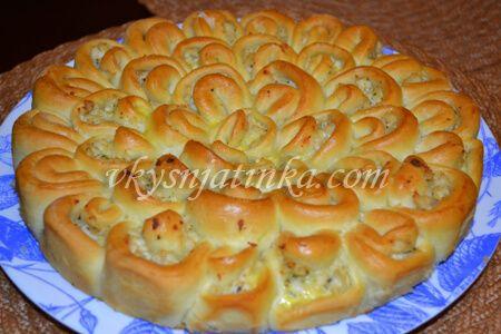 Мясной пирог «Хризантема» - фото
