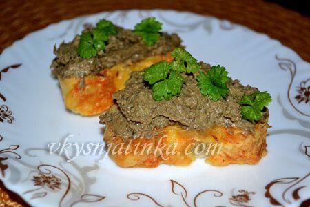 Домашний печеночный паштет из говяжьей печени - фото