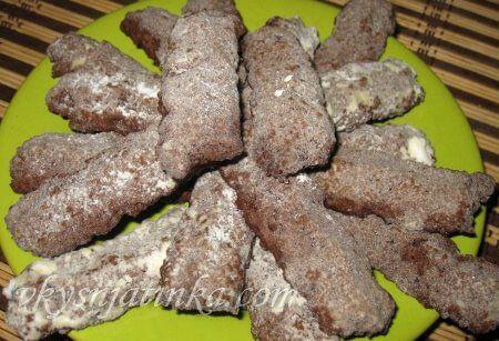 Песочное печенье с какао - фото