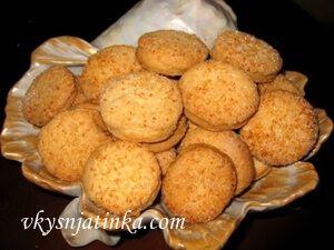 Песочное печенье с кокосом - фото