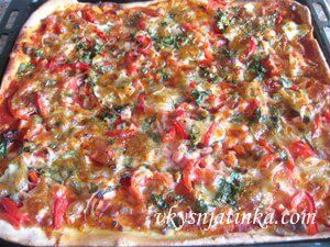 Пицца со свежими огурцами - фото